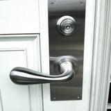 玄関ドア プッシュプル錠をレバーハンドル錠に取替え