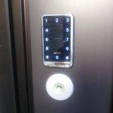 玄関ドアに電池式テンキー&カード錠取付 FUKIインターロック